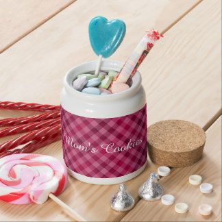Pink Picnic in Plad - Beautiful Plaid Hot Pink Candy Jars
