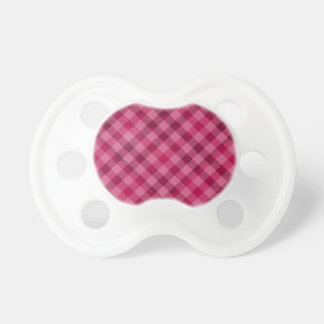 Pink Picnic in Plad - Beautiful Plaid Hot Pink Pacifier