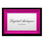 Pink Picture Frame Business Cards