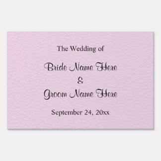 Pink Picture of Leather Wedding Design Yard Signs