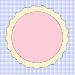 Pink Pie. Strawberry Tart. Blue check. Cut Outs