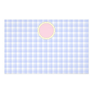 Pink Pie. Strawberry Tart. Blue check. Flyer