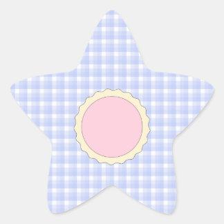 Pink Pie. Strawberry Tart. Blue check. Star Stickers