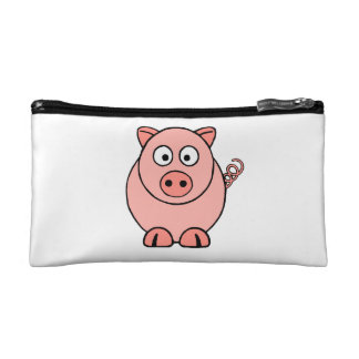 Pink Pig Makeup Bag