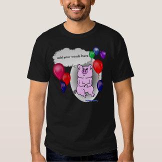 Pink Pig Birthday Template T-Shirt