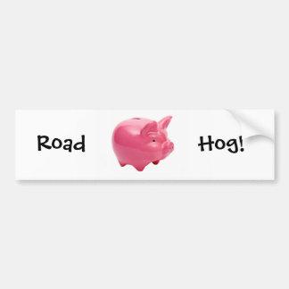 Pink Pig Bumper Sticker
