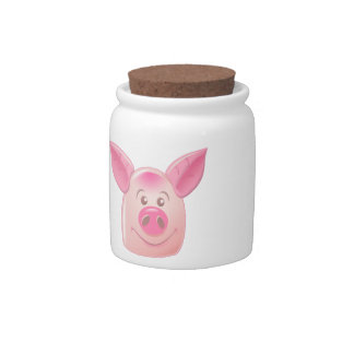 Pink Pig Candy Dishes