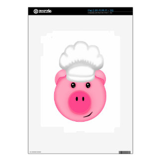 Pink Pig Chef Decal For The iPad 2