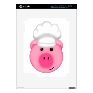 Pink Pig Chef Decals For iPad 3