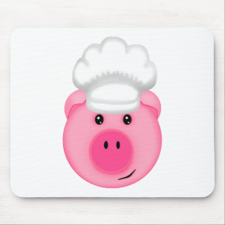 Pink Pig Chef Mouse Pad