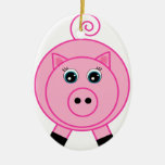 Pink Pig Christmas Tree Ornaments