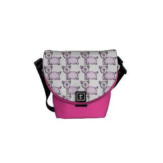 Pink pig courier bag