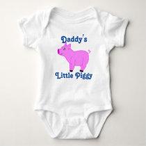 Pink Pig Custom Kids Shirt - Blue Text