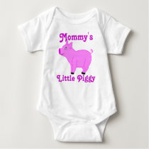 Pink Pig Custom Kids Shirt - Pink Text