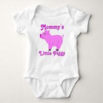 Pink Pig Custom Kids Shirt - Pink Text