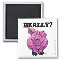 Pink Pig Diet Reminder Magnet