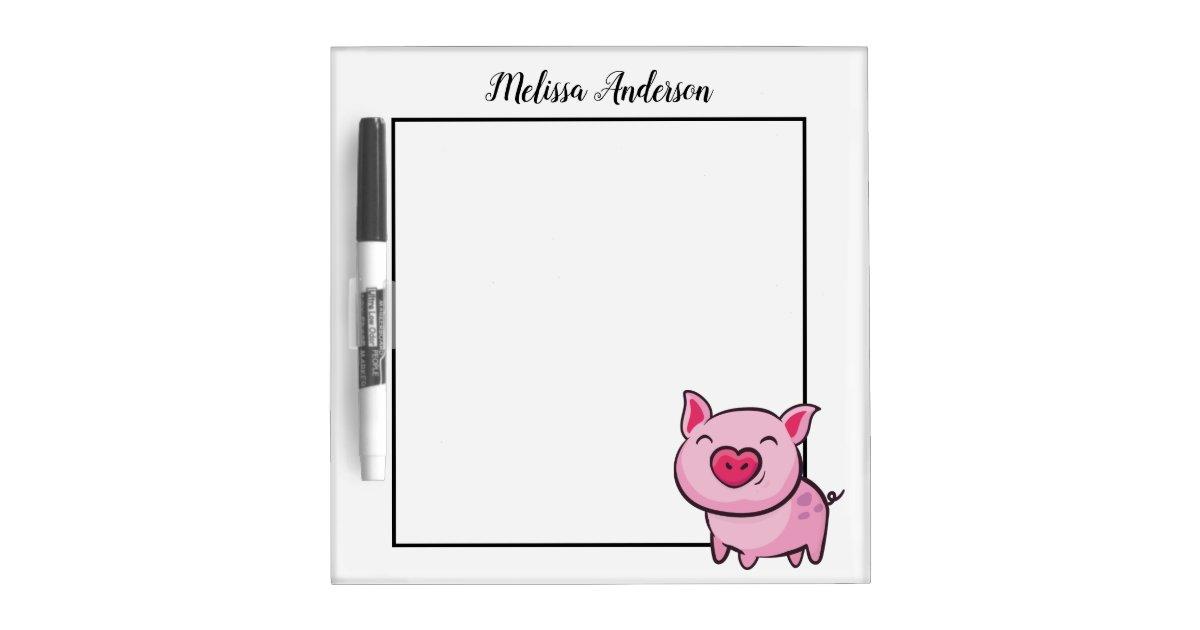 pink pig dry erase board