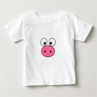 Pink Pig Face and Bum! Baby T-Shirt