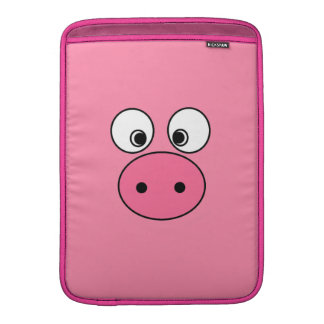 Pink Pig Face and Bum! MacBook Sleeve