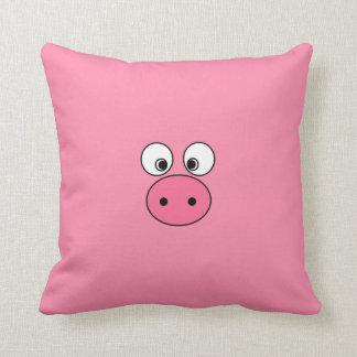 Pink Pig Face and Bum! Throw Pillow
