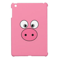 Pink Pig Face Case For The iPad Mini