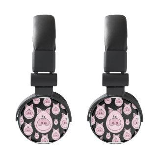 Pink Pig Face Headphones