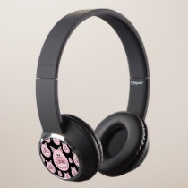 Pink Pig Face Headphones