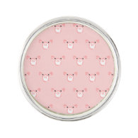 Pink Pig Face Pattern
