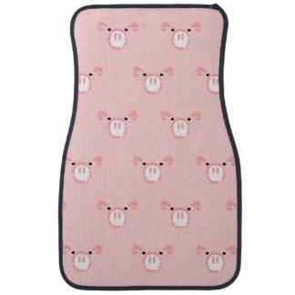 Pink Pig Face Pattern Car Floor Mat