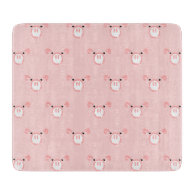 Pink Pig Face Pattern Cutting Board