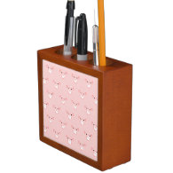 Pink Pig Face Pattern Desk Organizers