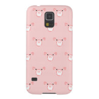 Pink Pig Face Pattern Galaxy S5 Cover