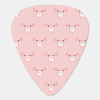Pink Pig Face Pattern Guitar Pick