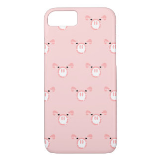 Pink Pig Face Pattern iPhone 8/7 Case