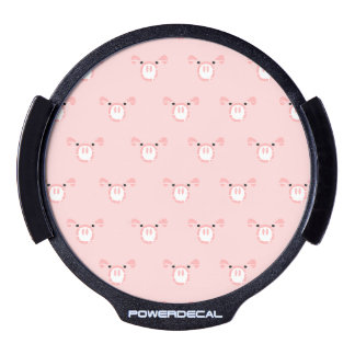 Pink Pig Face Pattern LED Window Decal