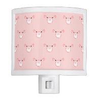Pink Pig Face Pattern Nite Lite