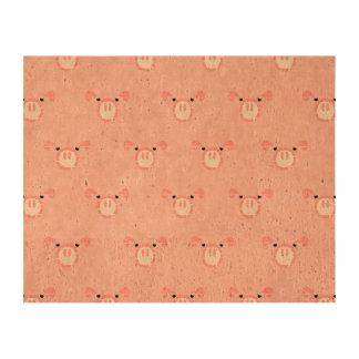 Pink Pig Face Pattern Queork Photo Prints