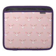 Pink Pig Face Pattern Sleeves For iPads
