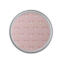 Pink Pig Face Pattern Speaker