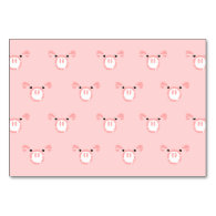 Pink Pig Face Pattern Table Card