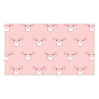 Pink Pig Face Repeating Pattern Double-Sided Standard Business Cards (Pack Of 100)