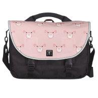 Pink Pig Face Repeating Pattern Commuter Bag