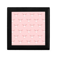 Pink Pig Face Repeating Pattern Gift Box