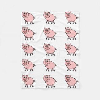 Pink Pig Fleece Blanket