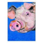 Pink Pig Greeting Cards