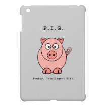 Pink Pig Humor iPad Mini Case