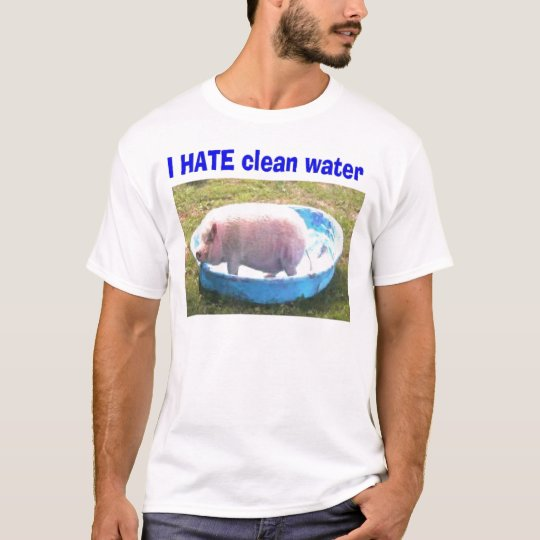 Pink pig in pool T-Shirt