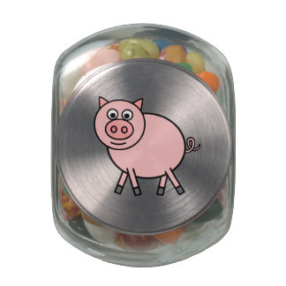 Pink Pig Jelly Belly Candy Jar