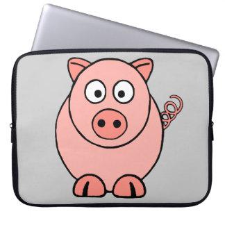 Pink Pig Laptop Computer Sleeve