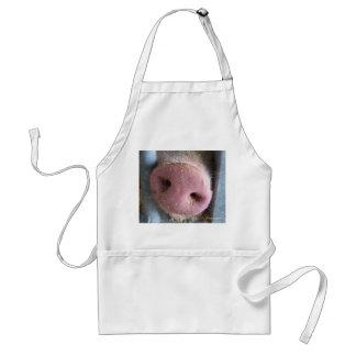 Pink Pig nose close up photograph Adult Apron